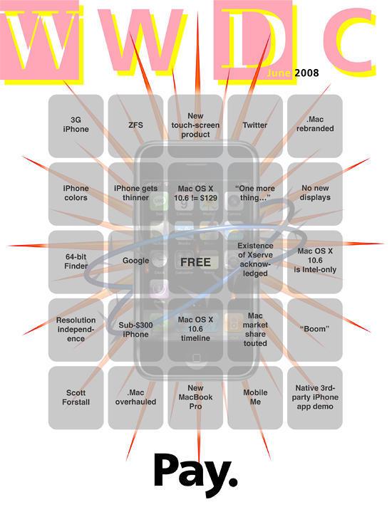 WWDC Keynote Bingo Card Pays Tribute to Wired   Cult of Mac
