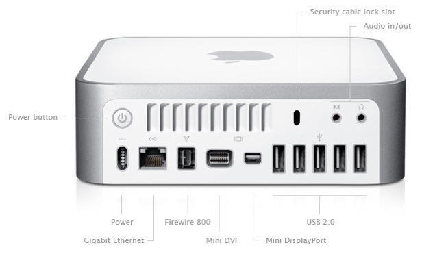 mac mini early 2009 mini displayport audio