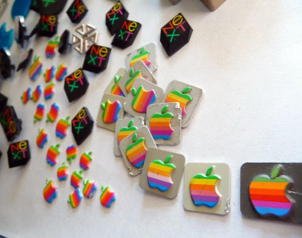A close-up of rescued Apple rainbows. Used with a CC license, thanks Univac.