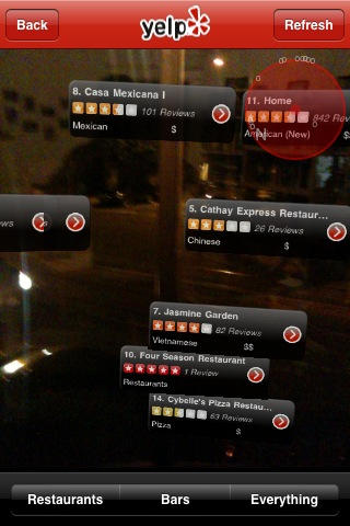 New Yelp App Has Hidden Augmented Reality Mode | Cult of Mac
