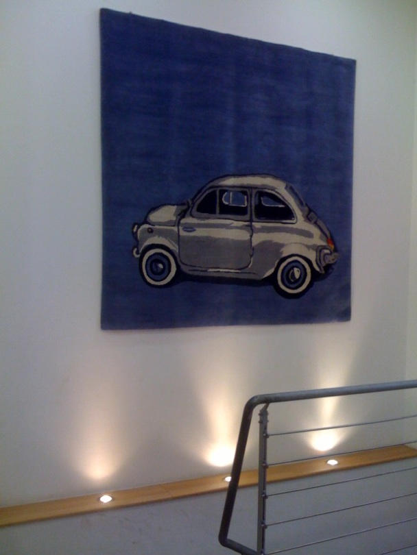 A portrait of a Fiat 500, made by Matthew Watkins on his iPhone.