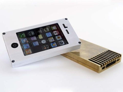 You should never put your iPhone in a case, like this metal Exovault case. http://exovault.com/