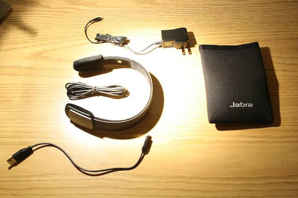 In the box: headset, charger, cable for non-Bluetooth players, USB charging cord, case.