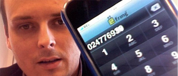 Make free calls on your iPhone with Fring and Google Voice. CC-licensed pic by damienvanachter on Flickr.