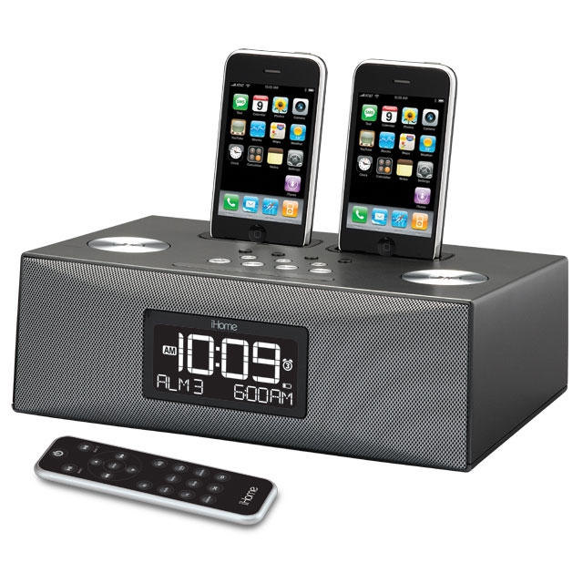 iHome Unveils Dual Dock Alarm Radio For iPhone and iPod | Cult of Mac