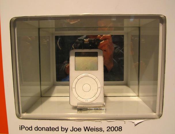 Museum piece: Joe's first-gen iPod.