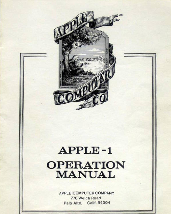The original manual comes with the Apple 1.