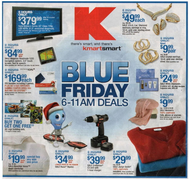 The front page of Kmart's Black Friday Ad.