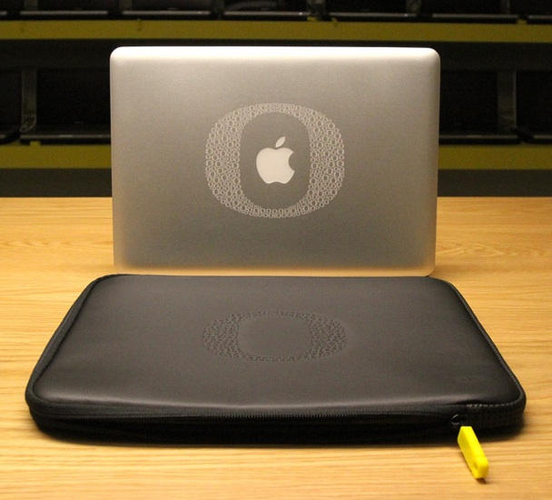 An engraved Mac with matching case. @Joe Mansfield.