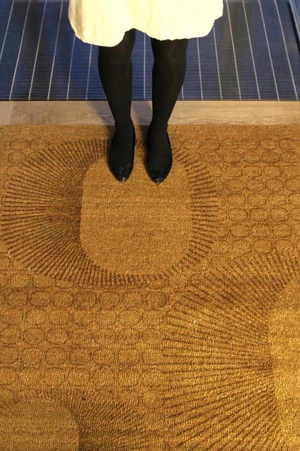 Entry mats for the study center with engraved with the