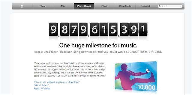 Apple to Offer $10K iTunes Card As Sales Near 10 Billion | Cult of Mac