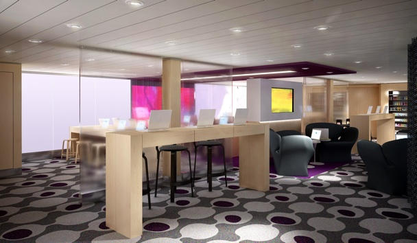Apple style on the high seas? @Image courtesy Celebrity Cruises