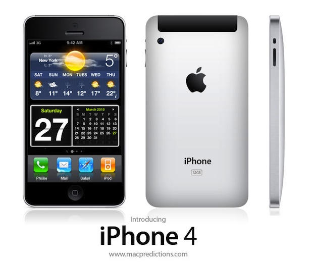A mockup of the iPhone 4G with an aluminum