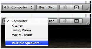 iTunes Speaker Selection