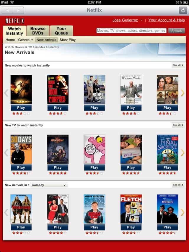 Netflix for iPad