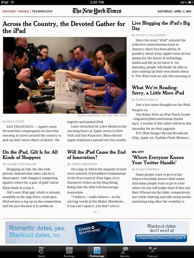 NY Times Editor's Choice App