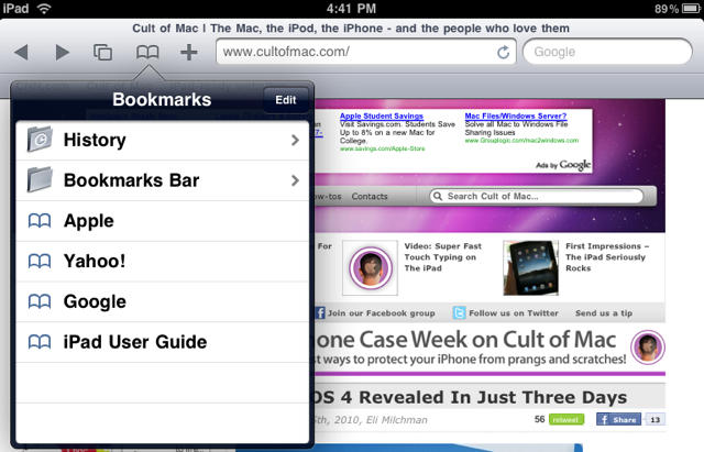 Add Favorites in Safari on iPhone and iPad