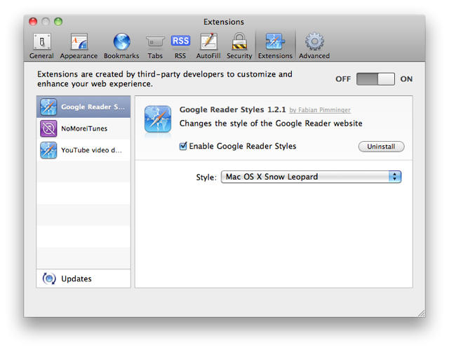 How To Enable & Manage Extensions In Safari 5 | Cult of Mac