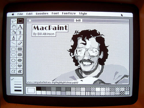 MacPaint by Bill Atkinson [Image: anoved via flickr]