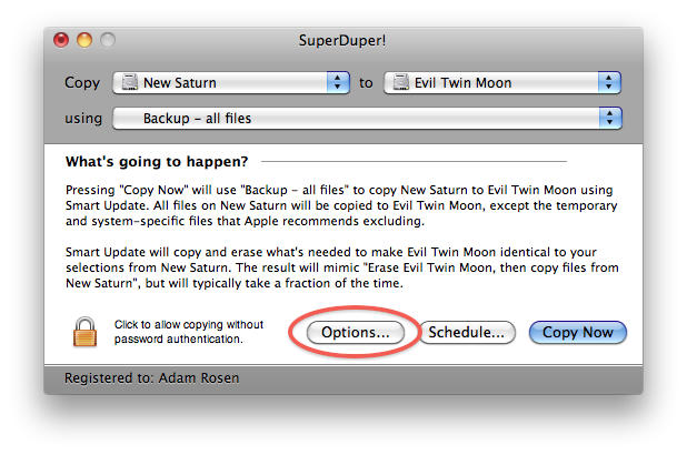 On the other Mac where you want to transfer that clone