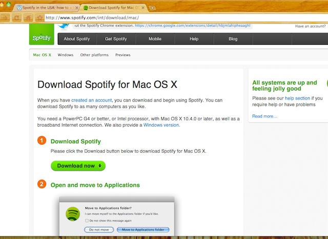 Get spotifys iphone app working in usa how to cult of mac step 2 downloading and installing the spotify ccuart Image collections