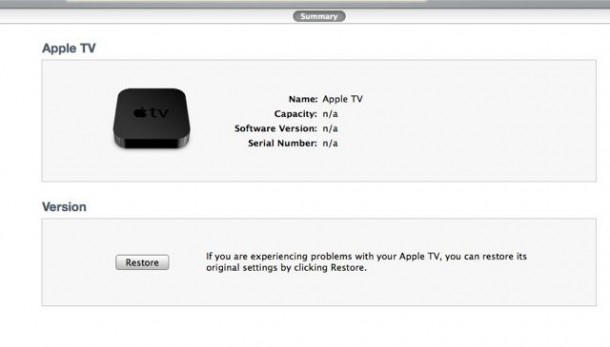 How to restore apple tv without itunes