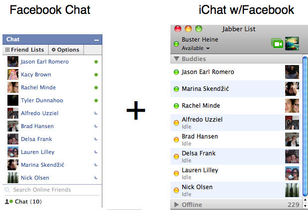 Integrate Facebook Chat Into iChat [How To] | Cult of Mac