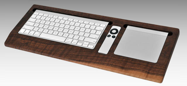 consolidate your mac 39 s keyboard remote and magic trackpad with a gorgeous black walnut tray. Black Bedroom Furniture Sets. Home Design Ideas