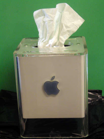 diy powermac g4 cube tissue dispenser