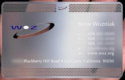 Woz Business Card