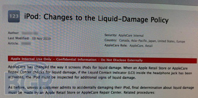 Apple-ipod-water-damage