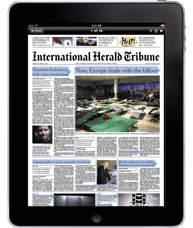 The iPad newspaper
