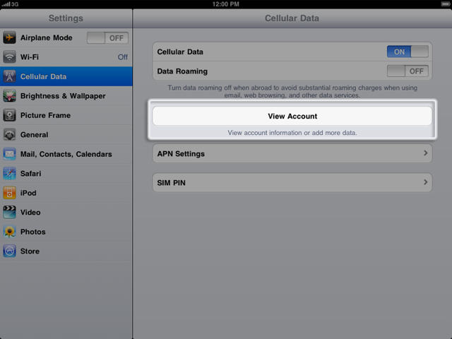You Can Now Manage Your AT&T iPad Data Subscription From Any