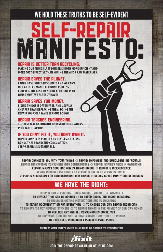 Self Repair Manifesto