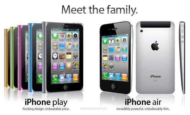 iPhone play and iPhone air