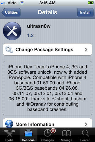 ultrasn0w pour iphone 3g
