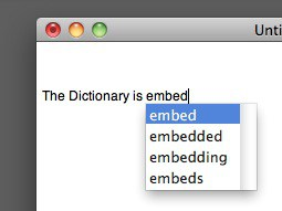 Embedded dictionary