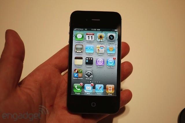 Verizon iPhone 4 front view.