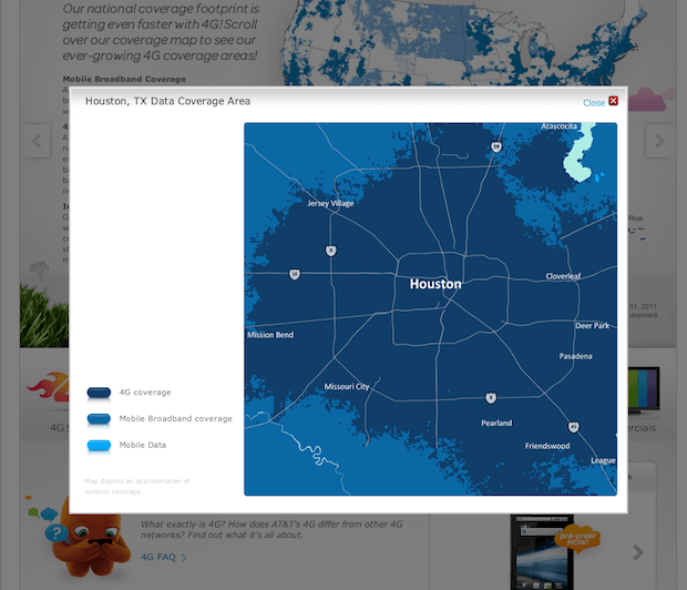 ATT Updates Coverage Maps To Show G HSPA Coverage Cult Of Mac - Att mobile coverage map