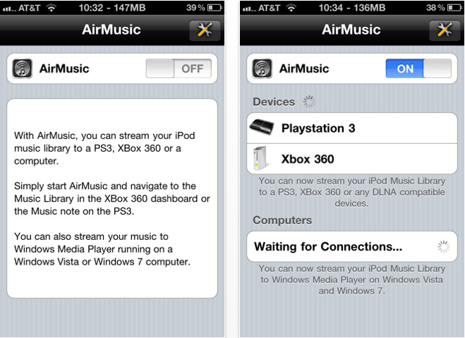 AirMusic for iPhone