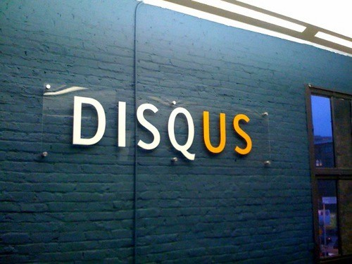Disqus office sign. Photo by zzwannabedjzz: