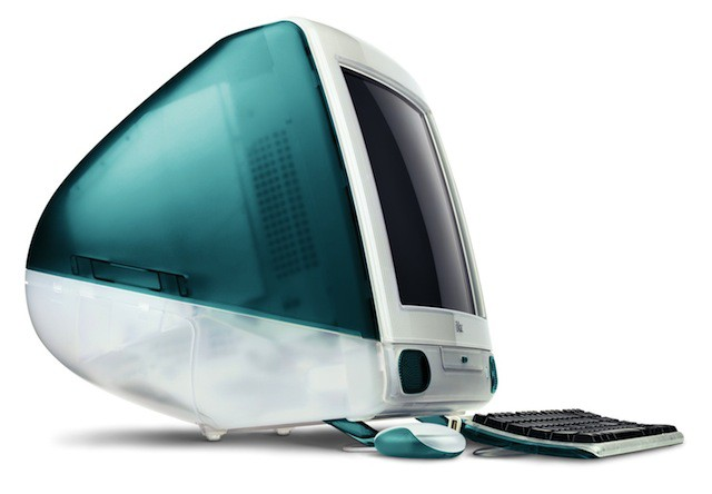 With its curvy lines and teardrop shape, the original iMac was a big inspiration for the OS X interface.