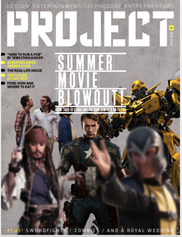 The gyroscope-enhanced cover of Project magazine.