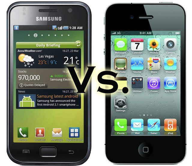 Samsung's Galaxy S Vibrant vs. iPhone 4