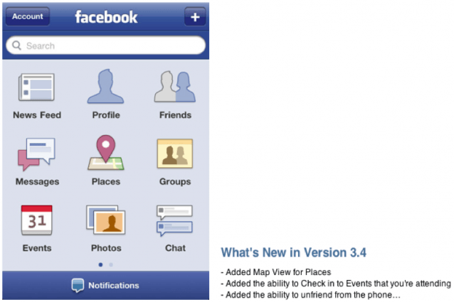 Facebook for iPhone Updated: Map View in Places, Unfriend