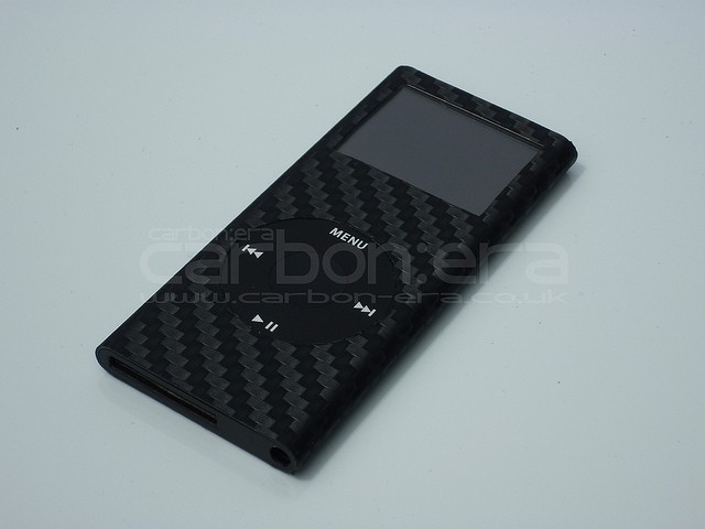 Apple is prototyping iPods with carbon-fiber cases, like this wrap from Carbon:Era. www.carbon-era.co.uk
