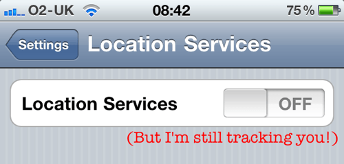 where is location services on iphone tests reveal iphone continues to track users when location 3545