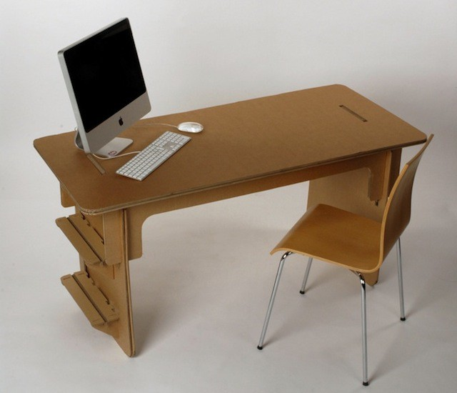 check out this gorgeous 32 cardboard desk concept cult of mac. Black Bedroom Furniture Sets. Home Design Ideas