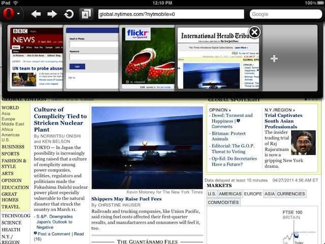 Opera Mini 6 screenshot