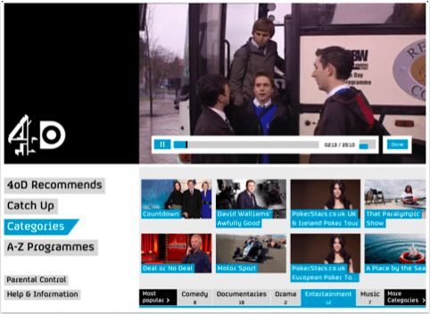 4oD Catch Up for iPad